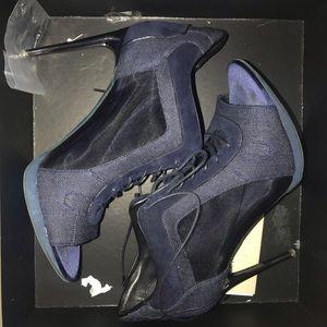 Denim & suede Burberry heels